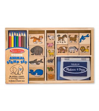 Melissa and Doug - Set de stampile cu Animale - Lucru manual