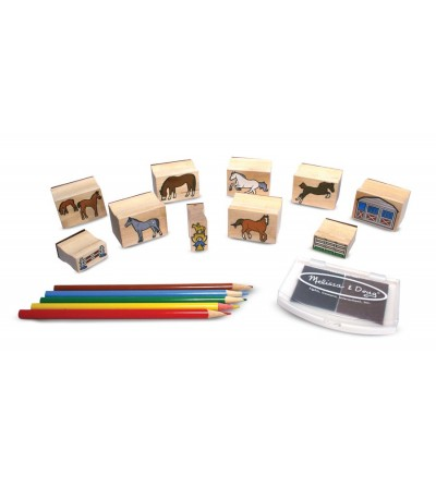 Melissa and Doug - Set de stampile Calutii - Lucru manual