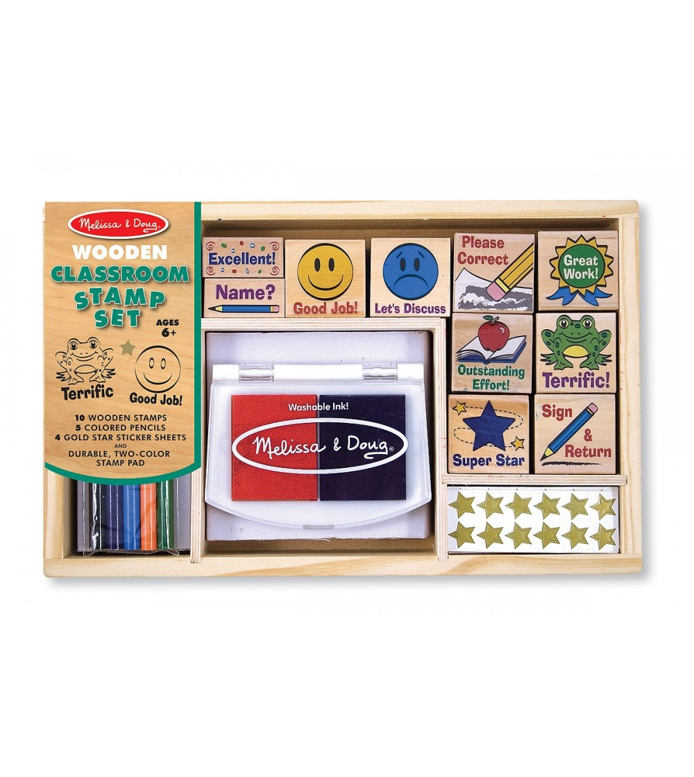 Melissa and Doug- Set de stampile La scoala