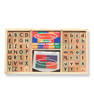 Melissa and Doug - Set de stampile Alfabet - Desen și pictură