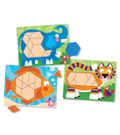 Set de sabloane Melissa and Doug - animale - Jucării creativ-educative