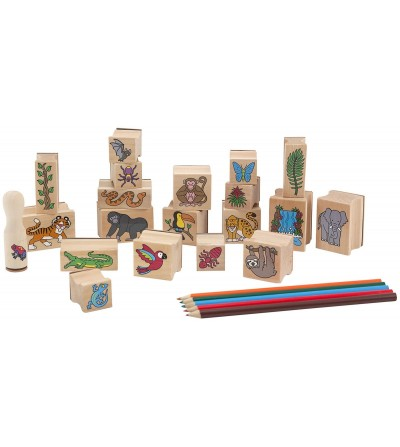 Melissa and Doug - Set stampile Jungla - Desen și pictură