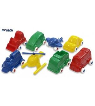 Jucarii Minimobil Miniland 32 vehicule - Vehicule de jucărie