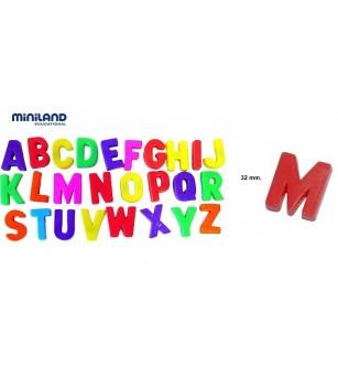 Litere mari magnetice Miniland 310 buc - Jucării limbaj