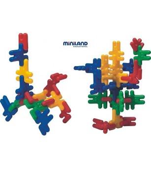Iepurasi de construit Kim Buni Miniland 74 buc - Jocuri construcție