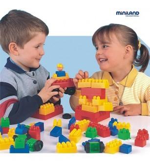 Joc de constructii Caramizi Miniland 300 buc - Jocuri construcție