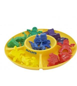 Set tavite pentru clasificare Miniland - 4 bucati - Jucării creativ-educative