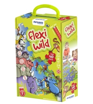 Puzzle de podea educativ cu numere Miniland 40 piese - Miniland - Puzzle-uri