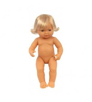 Papusa Bebelus Miniland european - fetita 38 cm - Papusi