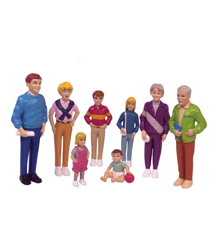 Familie Miniland de europeni - 8 figurine - Figurine