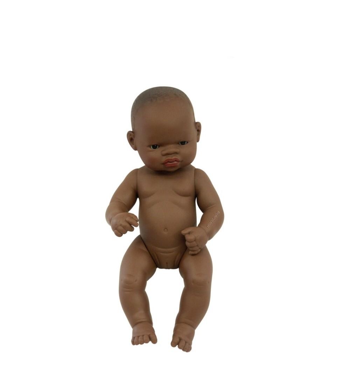 Papusa Bebelus Miniland african - Fata 32 cm - Papusi