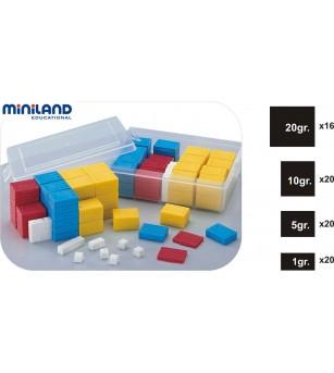 Set 76 greutati din plastic - Miniland - Jucării matematică