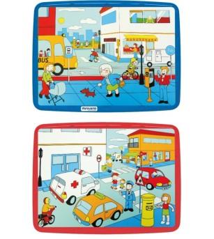 Puzzle Codul rutier Miniland 56 piese - Puzzle-uri