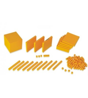 Joc educativ Baza 10 Set 121 piese la cutie Miniland - Jucării matematică