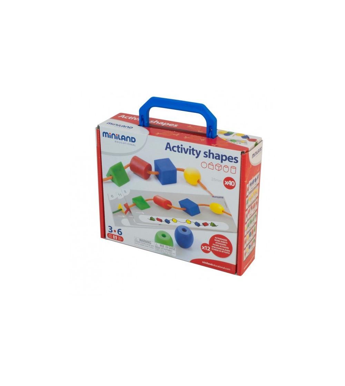 Activitati educative - forme geometrice Miniland - Jucării de lemn si Montessori