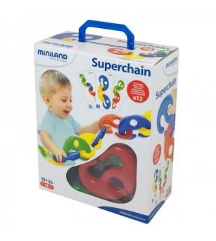 Joc Miniland - Superchain 16 piese - Jucării motrice