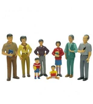Figurine Miniland familie asiatica - Figurine