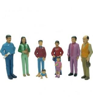 Figurine Miniland familie sudamericana - Căsuțe de păpuși și accesorii