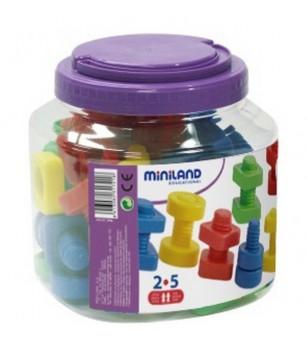 Joc Miniland - Suruburi si Piulite - Jucării creativ-educative