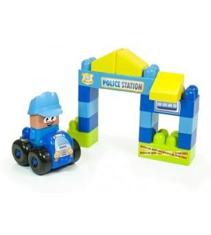 Joc constructii tematic Statie politie - Miniland - Jocuri construcție