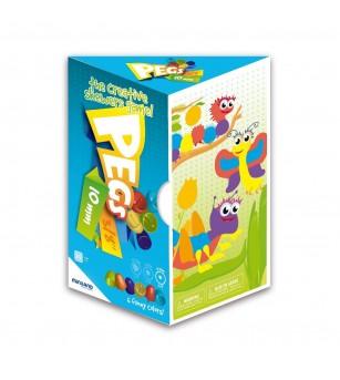 Joc mozaic Miniland - 180 piese - Jucării creativ-educative