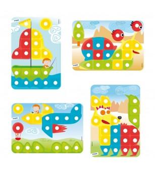 Joc mozaic Miniland - gigant - Jucării creativ-educative