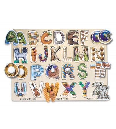 Puzzle Melissa and Doug - Alfabet Art - Puzzle-uri