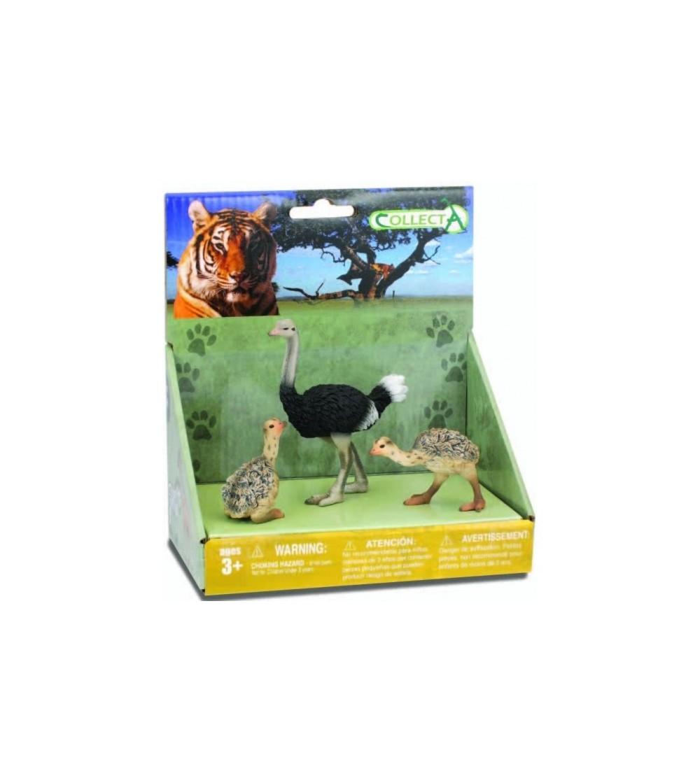 Set 3 Figurine Collecta - strutul si puii - Figurine