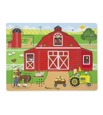 Puzzle sonor Melissa and Doug - Ferma Animalelor - Puzzle-uri