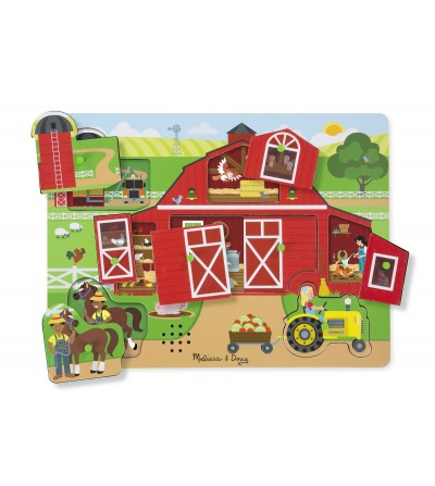 Puzzle sonor Melissa and Doug - Ferma - Puzzle-uri