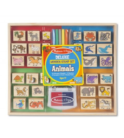 Set stampile din lemn - Animale Deluxe - Lucru manual