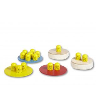 Joc de echilibru Buitenspeel - Bird Race - Jucării de lemn si Montessori