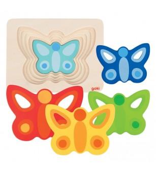 Puzzle straturi Goki Fluturasi colorati