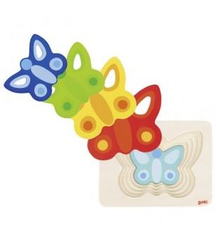 Puzzle straturi Goki Fluturasi colorati - Puzzle-uri