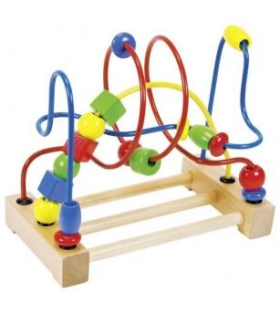 Goki - Labirint cu bile pentru motricitate - Jucării de lemn si Montessori