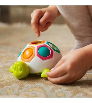 Jucarie de motricitate Fat Brain Toys Pop and Slide Shelly - Jucării bebeluși