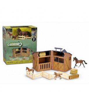 Figurine Collecta - Grajd cu Animale si Accesorii - Figurine