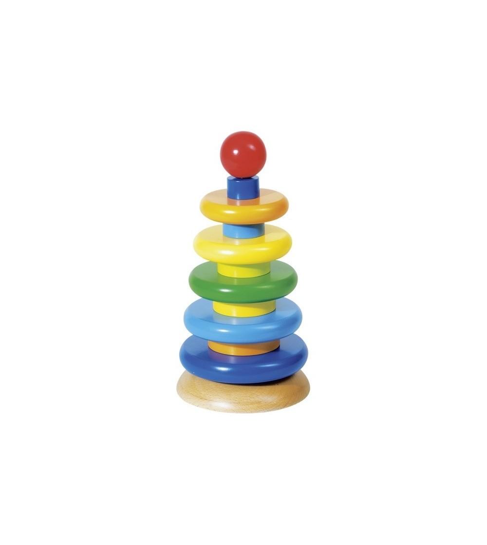 Piramida de stivuit Intelligence - Jucării de lemn si Montessori