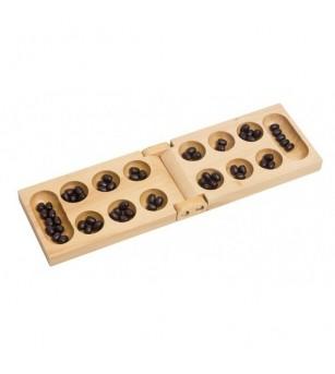 Joc din lemn - Kalaha pliabil - Jocuri de masă