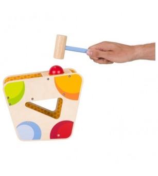 Xilofon din lemn cu ciocan si bile - Jucării de lemn si Montessori