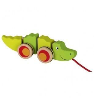 Jucarie de tras Goki - Crocodilul Groki - Jucării de tras și împins