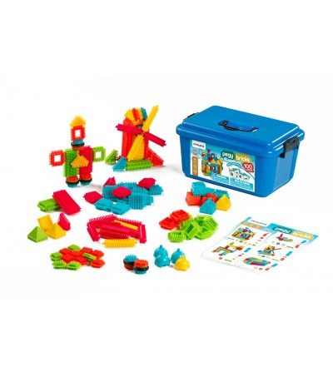 Joc de constructii Miniland - Pegy Bricks 100 - Jocuri construcție