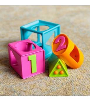 Jucarie bebelusi Fat Brain Toys Cubul inteligent - Jucării bebeluși