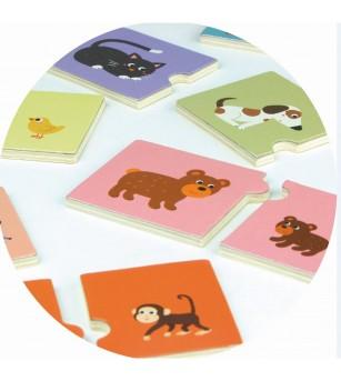 Joc de memorie - Mama si puiul - Jocuri de memorie și asociere