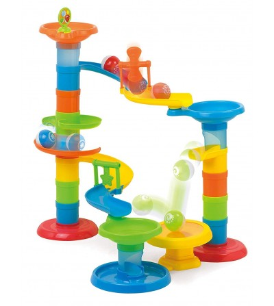Joc educativ Miniland - Turnul cu rollercoaster - Jocuri construcție
