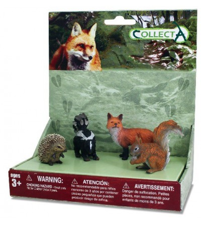Set 4 figurine Collecta - Animale din padure - Figurine