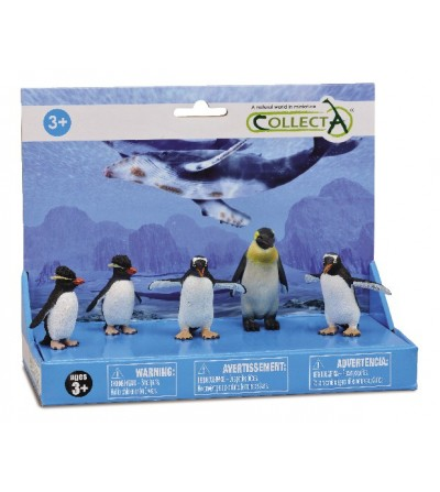 Set 5 figurine Collecta - Pinguini - Figurine