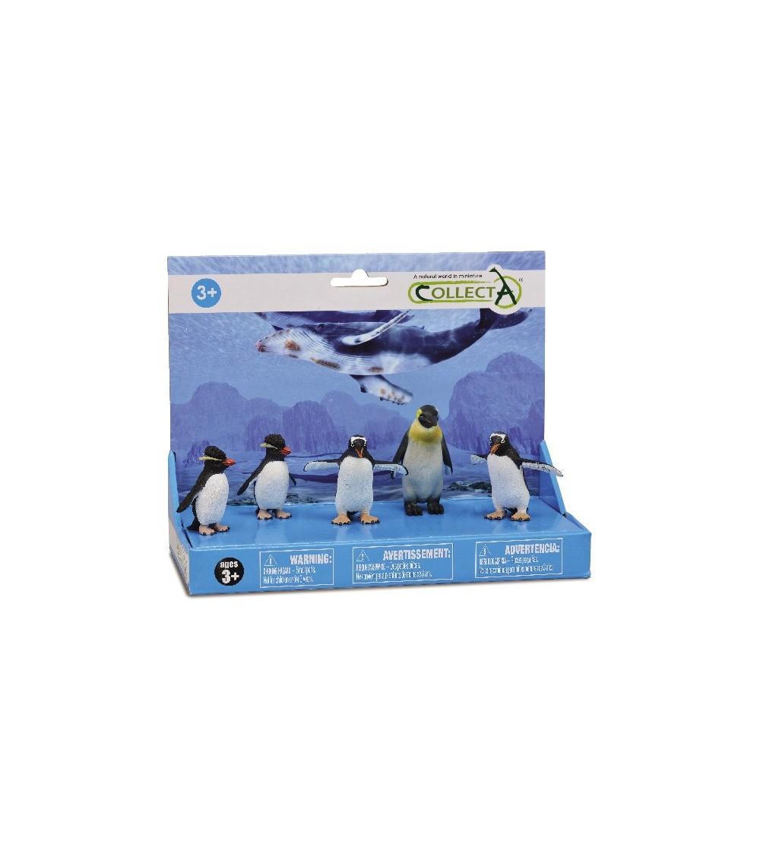 Set 5 figurine Collecta - Pinguini - Figurine