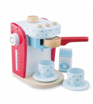 Cafetiera din lemn New Classic Toys - Bucătărie copii