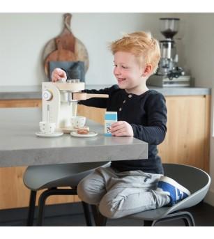 Cafetiera din lemn New Classic Toys, Alb - Bucătărie copii